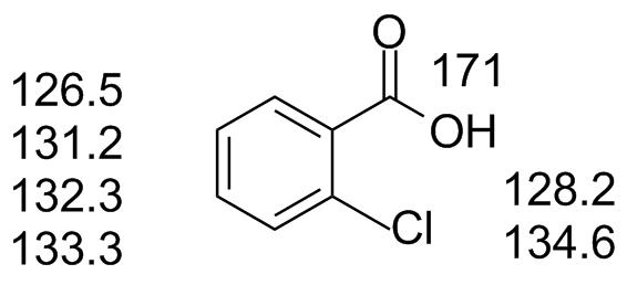 Ochlorobenzoic Nmr Nuclear Properties Table
